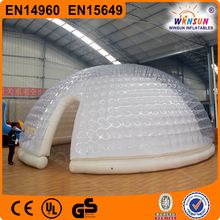 Outdoor inflatable tent, clear inflatable lawn tent, inflatable lawn tent for sale
