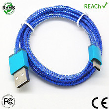 OEM multi color data charging micro usb cable for android mobile phone samsung accessary