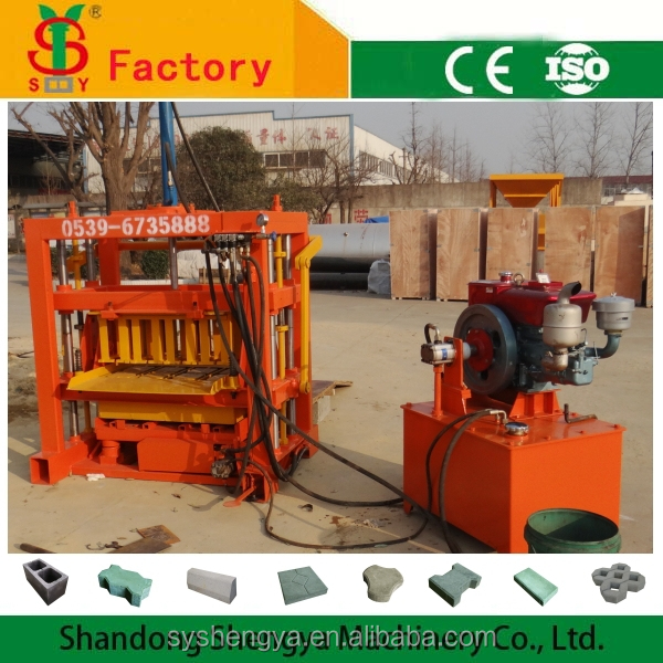 SHENGYA MACHINERY QTJ4-30 concrete block making machine,maquina de bloco de concreto
