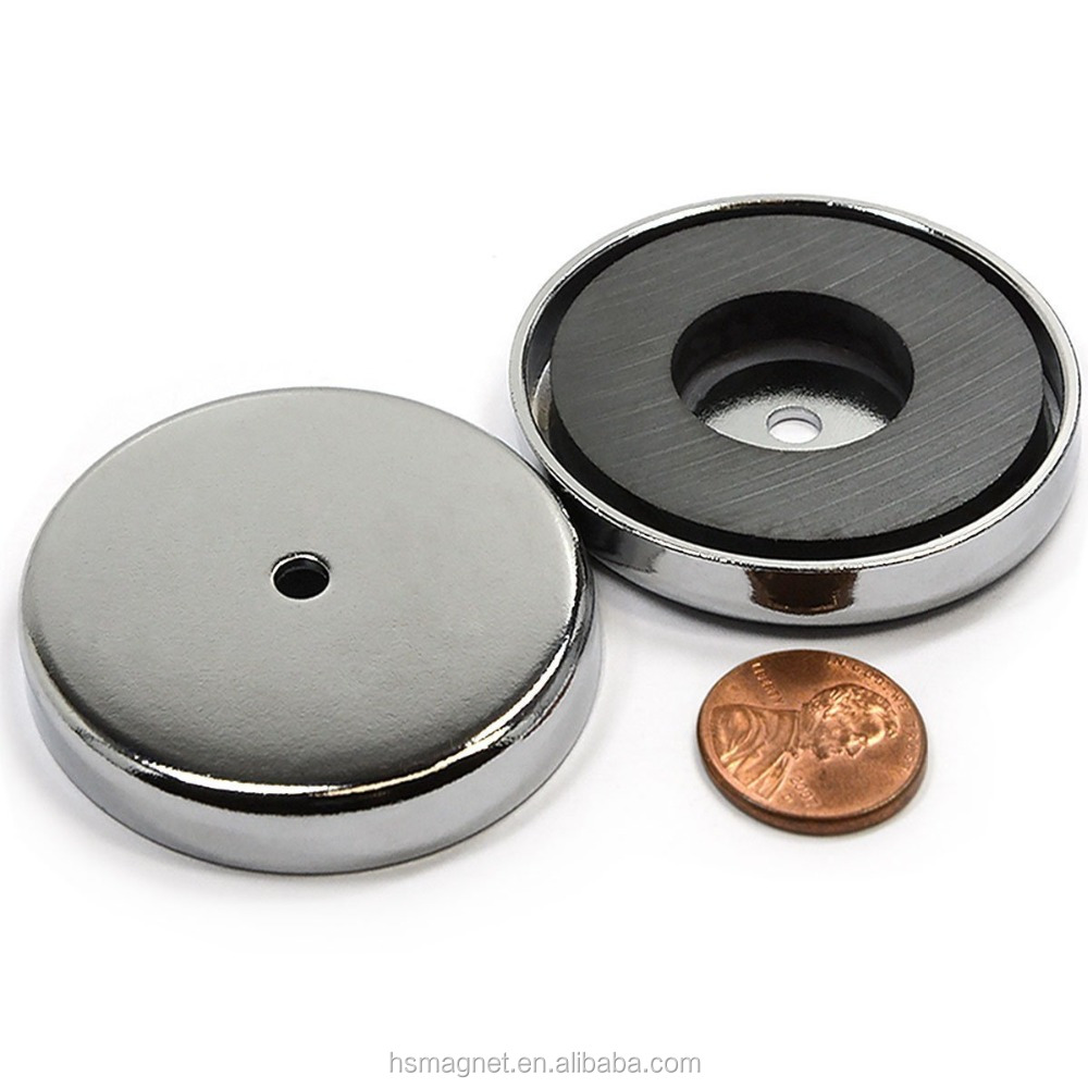Multi-Poles Rubber Coated Neodymium NdFeB Pot Permanent Type Magnet With Thread Rod