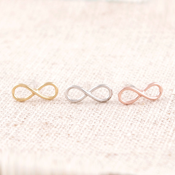 New Fashion Cheap Hot Gold Silver Rose Gold Unique Eternity Infinity Earrings For Women ED005