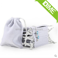 Promotional Small Luxury Velvet Jewelry Drawstring Pouch Bag