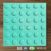 Anti-slip exterior decorative outdoor floor warning tactile tiles for road