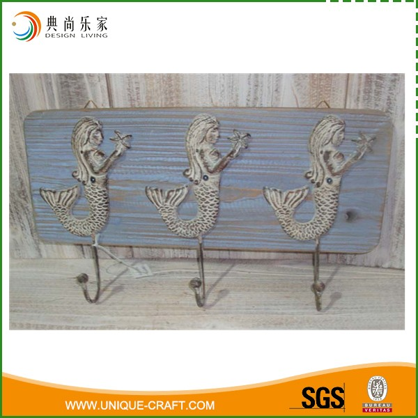 Wholesale Antique Casting Iron Mermaid Bathroom Hook For Clothes