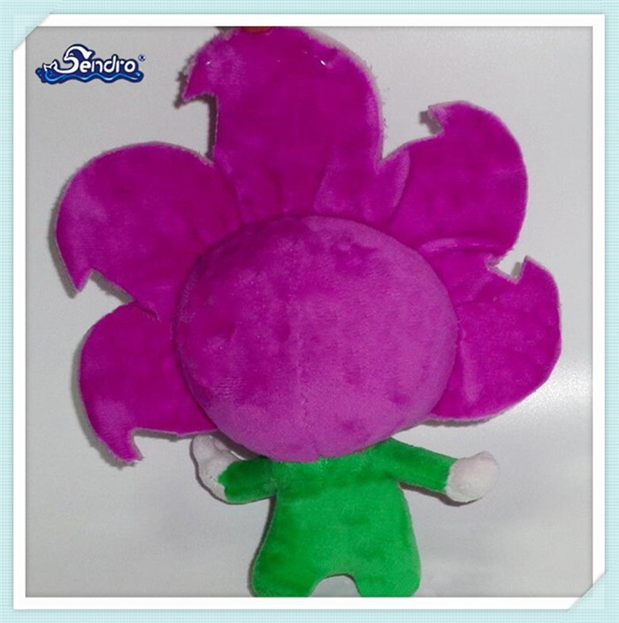 custom flower shaped cartoon character plush toy company mascot for promotion
