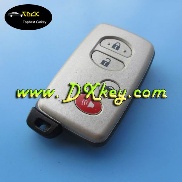 High quality 3+1 buttons smart car remote shell with emergency key for toyota camry key for toyota key