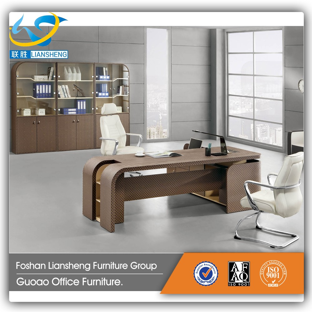 Computer table models with prices - Hot Sale Models Factory Price Executive Office Table Wood With Leather Cover Computer Table