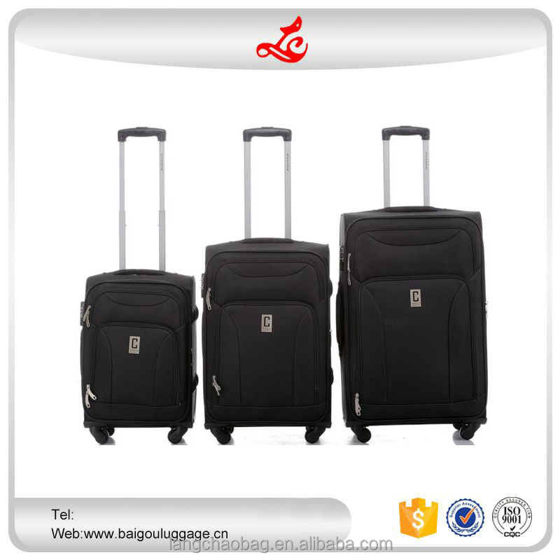 "2016 hot selling royal trolley luggage 20""24""28"" custom made luggage nylon soft luggage"