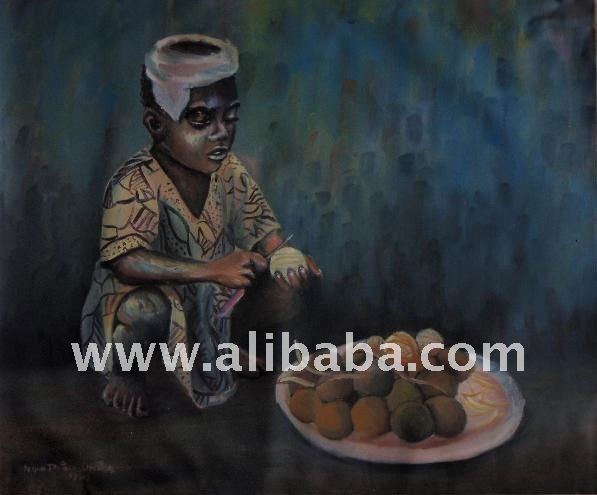 African Oil Painting (Omo-olosan)