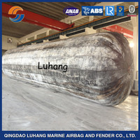 Best quality anti explosion natural rubber ship launching airbag