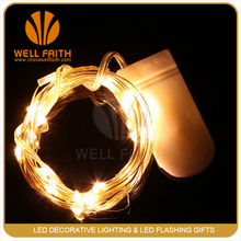 Warm White Outdoor 30LED 10Ft Fairy Starry String Lights Button Battery Operated on Long Line Copper Wire