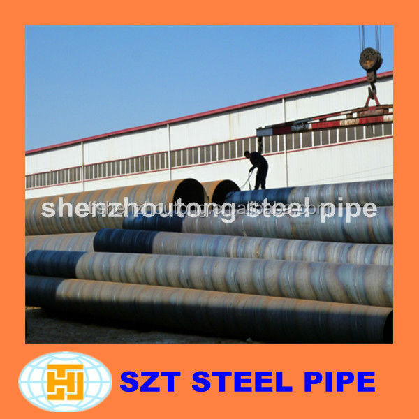 Carbon SSAW Spiral Welded Steel Pipe for Liquid Service alibaba china