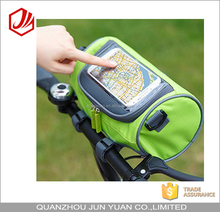Tourbon durabel mobile phone screen touch top front tube bike travel bag