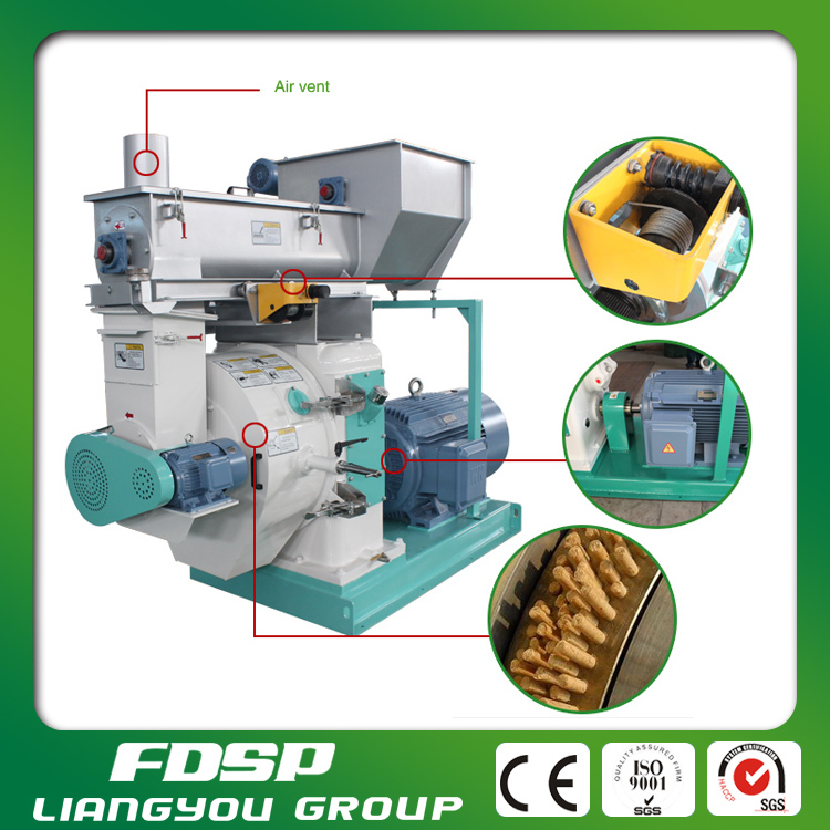 Safety and reliable wood pellet electric generator/wood press machine