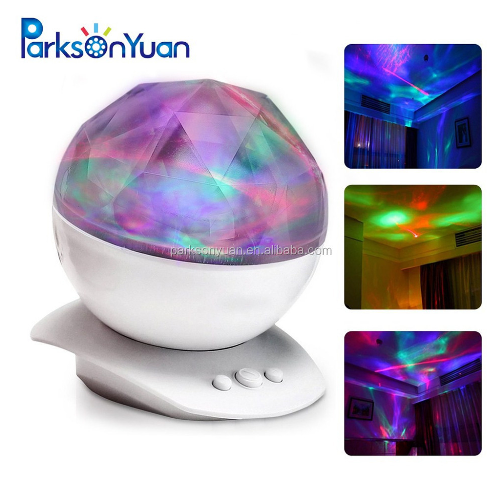 Night Light Projector,Projection Bulb Light Amir Color Changing Aurora Borealis Light Stereo Speakers, Sleep Aid Light