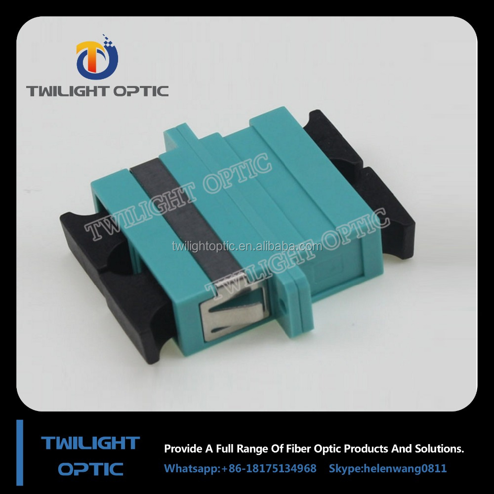 Manufacturer&Supplier SC/UPC to SC/UPC Multimode Duplex OM3 Plastic Fiber Optic Adapter