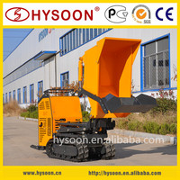 Chinese CE certificated self-loading hydraulic mini dumper crawler type