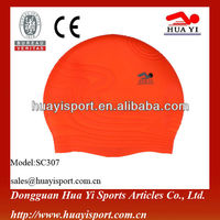 olympic custom printed swimming silicone cap in water sports