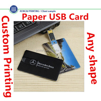China Supplier 2gb USB Flash Drive/Paper USB 2.0 Card/Plastic USB Card