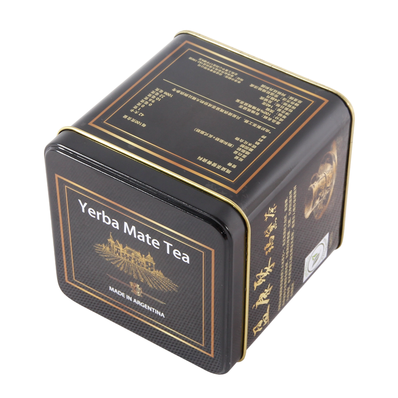2016 newest Bamboo Tea Bag Box metal Tea Storage Tin Box with any print