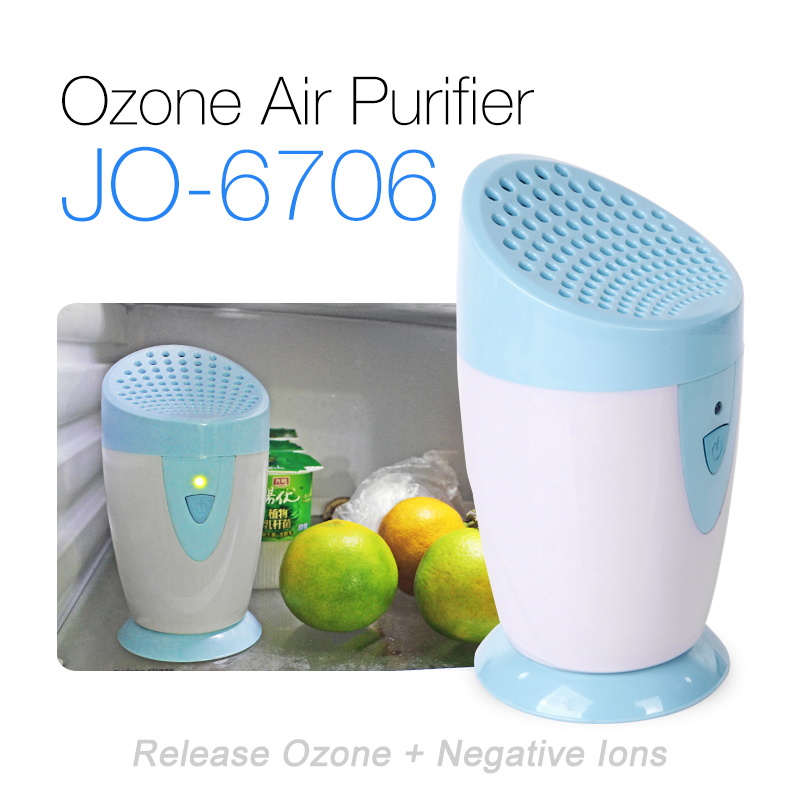 Factory Price JO-6706 Anion Ozone Air Purifier Portable Battery Powered Ozone Generator