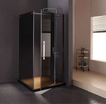 KK8011 Stainless Steel Tempered 2 Sided Shower Enclosure