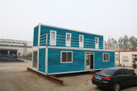 insulated Green modified shipping container house for rent