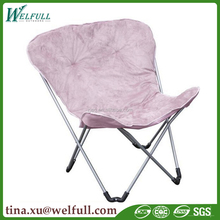 Outdoor Home Furniture Camping Padded Butterfly Folding Chair