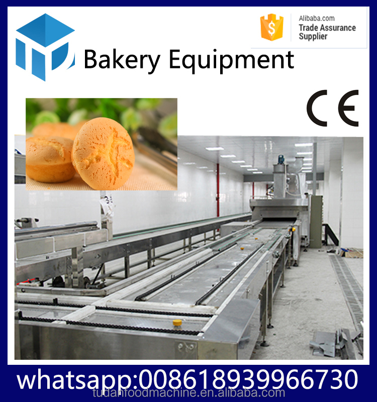 HYPXPD-800 tudan food equipment full set custard cake making machine with yolk industrial cake baking oven