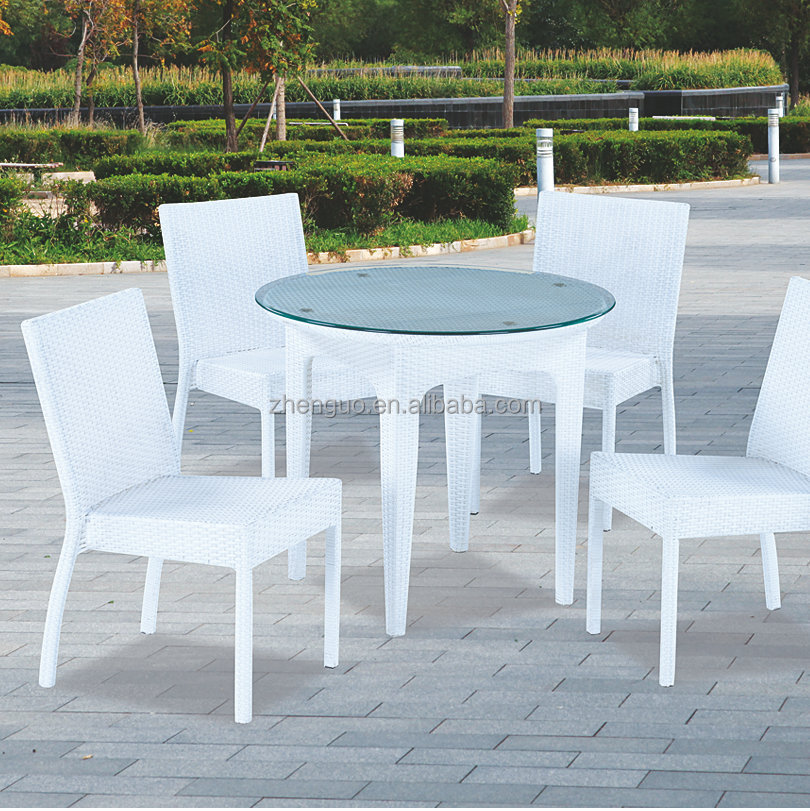 Simple outdoor imitation rattan used white wicker furniture