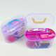 Set Thread Threader Needle Tape Measure Scissor Thimble Travel Plastic Storage Box Sewing Kit Tool