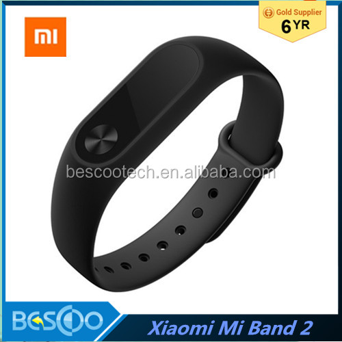 Original Xiaomi MiBand 2 mi band 2 Bluetooth 4.0 fitness tracker heart rate monitor Oled display touchpad