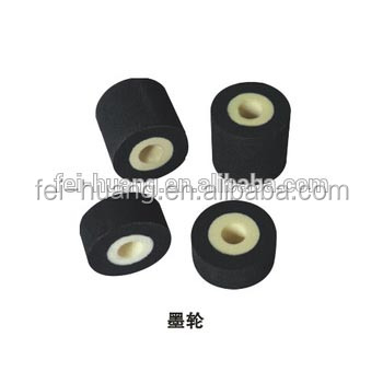 High quality durable solid rubber ink roller for sealing machine, printing machine rubber roller