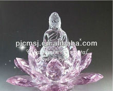 Pink Lotus Ornate Crystal Flower For Wedding Gift