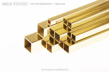 Seamless square brass tubing