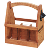 2016 wholesale custom unfinished cheap 6 pack wooden wine carrier handmade wooden beer holder