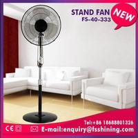 tilting angle ac&dc solar rechargeable stand fan made in China
