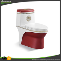 Home and hotel shower room sanitary ceramic colored wine red toilet