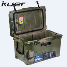 Rotomolded coolers made in China from KUER cooler box mainly for fishing 20QT 45TQ 75QT 70QT with wheels now available