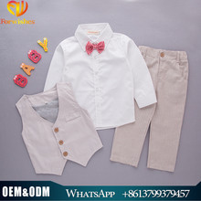 2017 bulk wholesale kid clothing baby boys 3 pcs outfits spring and autumn design children clothing set