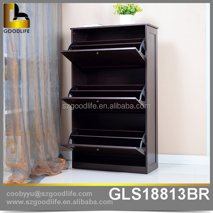 China Manufacture Solid Wooden shoe rack for Sale