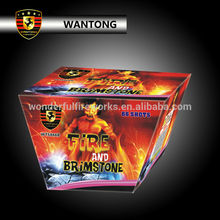 66 shots W shape cake fireworks from wantong factory
