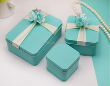 customized pretty Tinplat gift box. hot sale tin box for wedding