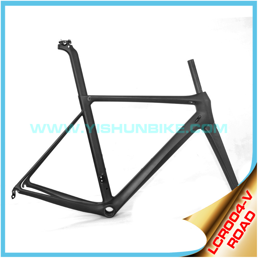 2016 YISHUNBIKE light weight road carbon bicycle frame bb86 size 50cm LCR004-V