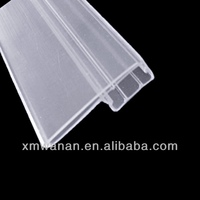 PVC label holder transparent Plastic strip , extruded price ticket holder