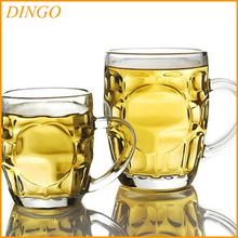 pub glassware acrylic pint beer mug , pilsner big beer cup with handle