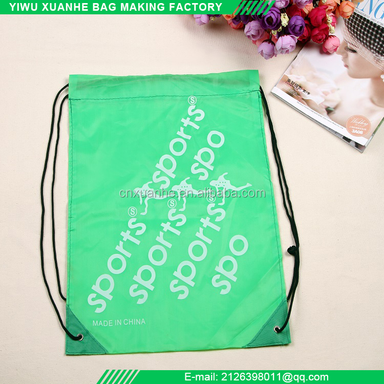 Polyester drawstring bag promotional eco travel bag