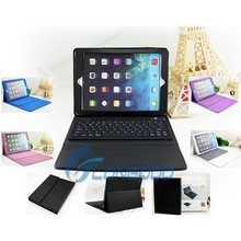 Wireless Silicone Bluetooth Keyboard PU Leather Stand Case for iPad Air/ 5