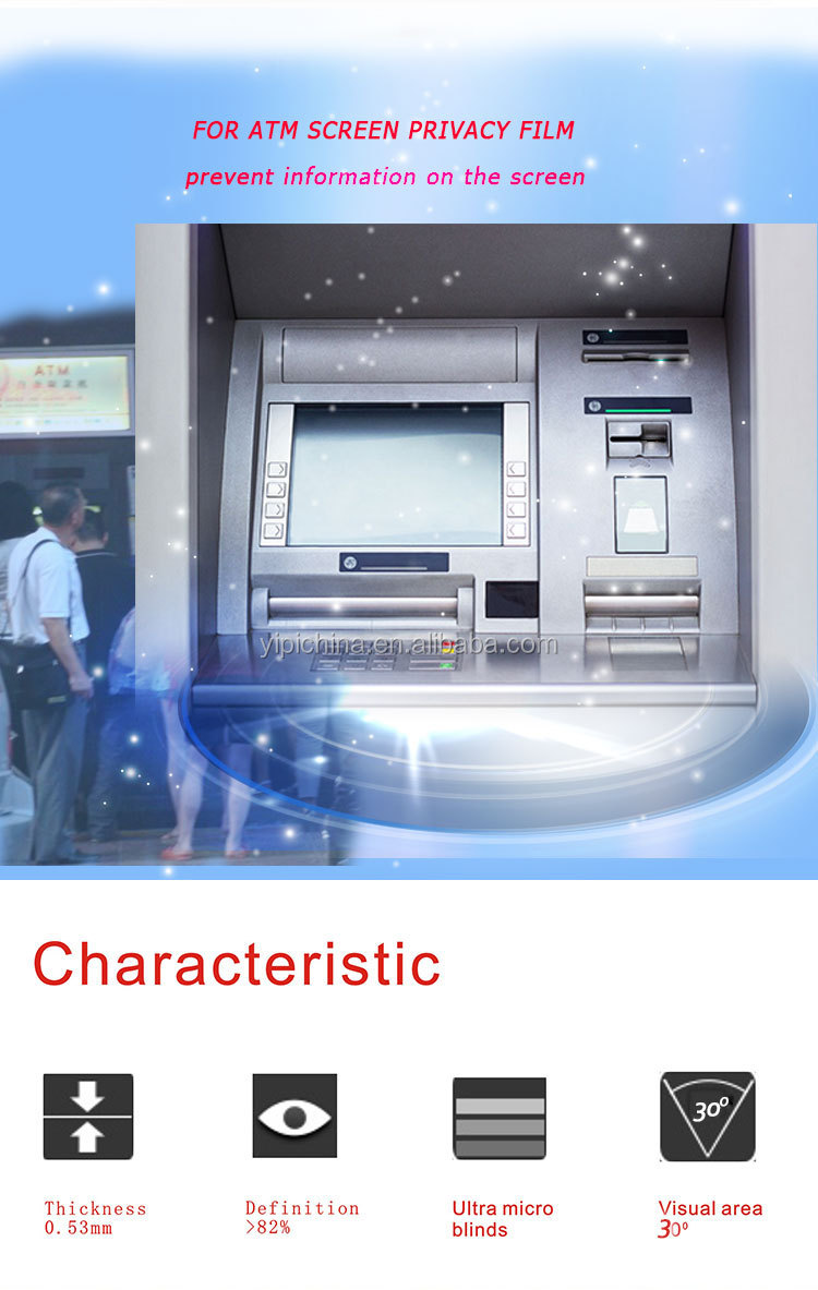 Privacy Screen For ATM Machine Anti-spy Screen Protector