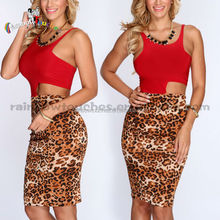 latest red leopard side cutout bodycon wedding dresses 2015
